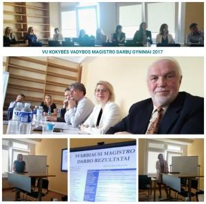 2017 m. gegužės 20 d. magistro darbus gynė 2-oji ištęstinių kokybės vadybos studijų magistrantų laida